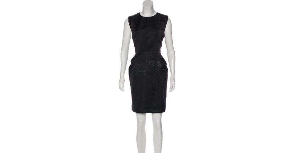 Lyst Louis Vuitton Silk Monogram Dress In Black