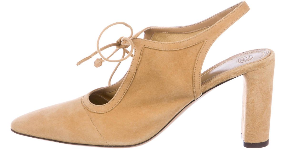 22fbb2832c Lyst - The Row 2017 Camil Suede Pumps W/ Tags Neutrals in Natural