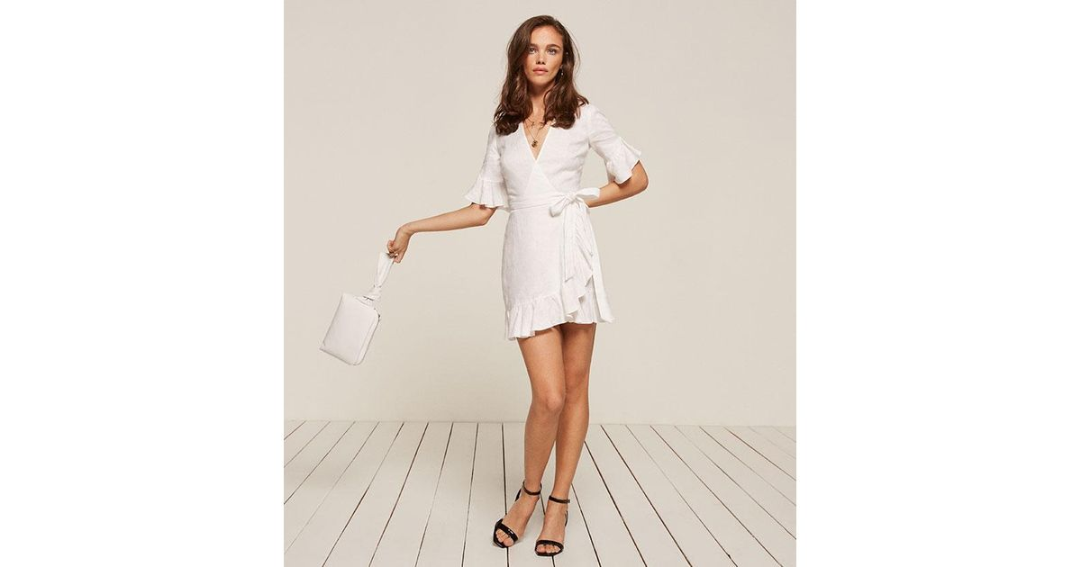 a6d72e51d5 Reformation Kelsey Dress in White - Lyst