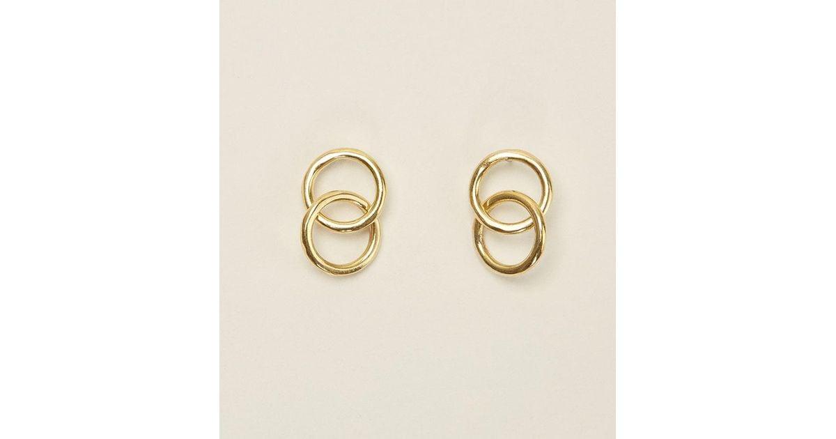 Soko Kumi Stud Earrings (Gold-tone) A4PBw0WNhZ