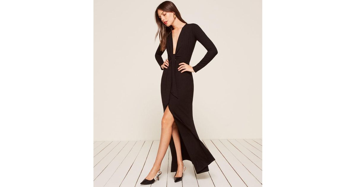 Lyst - Reformation Aria Dress in Black 545180468
