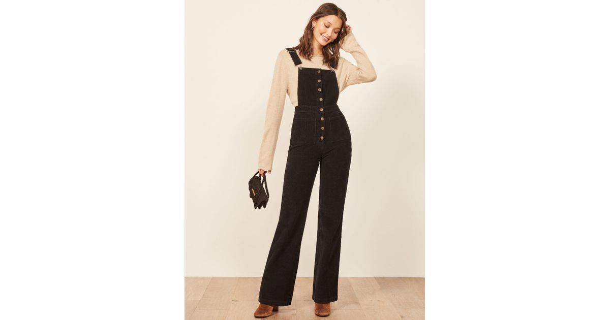 991d41db3ee1 Lyst - Reformation Cassidy Overall in Black