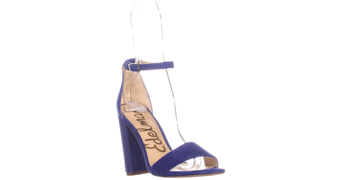 ec72e60c2 Lyst - Sam Edelman Yaro Ankle Strap Sandal in Blue - Save 58%