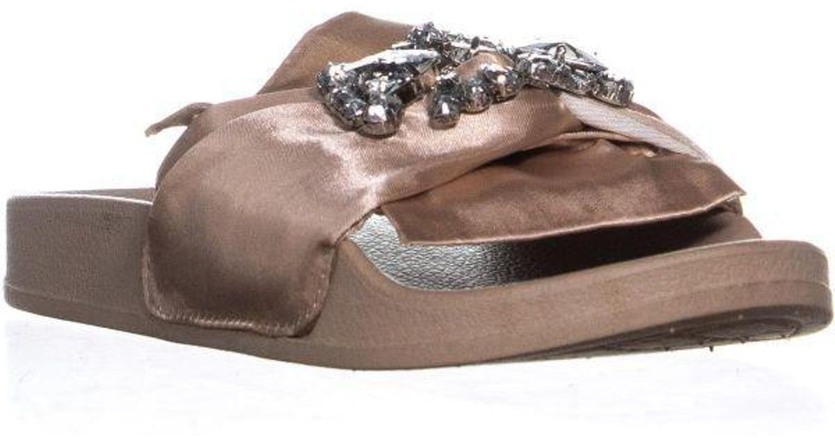 47542a7963aa Lyst - Kenneth Cole Reaction Pool Jewel Slide Sandals