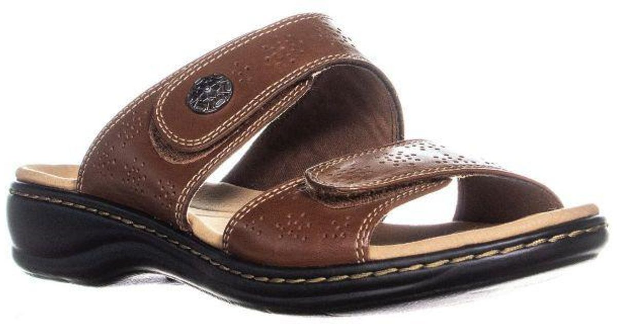 b4b3f9f9832b Lyst - Clarks Leisa Lacole Slide Sandals in Brown