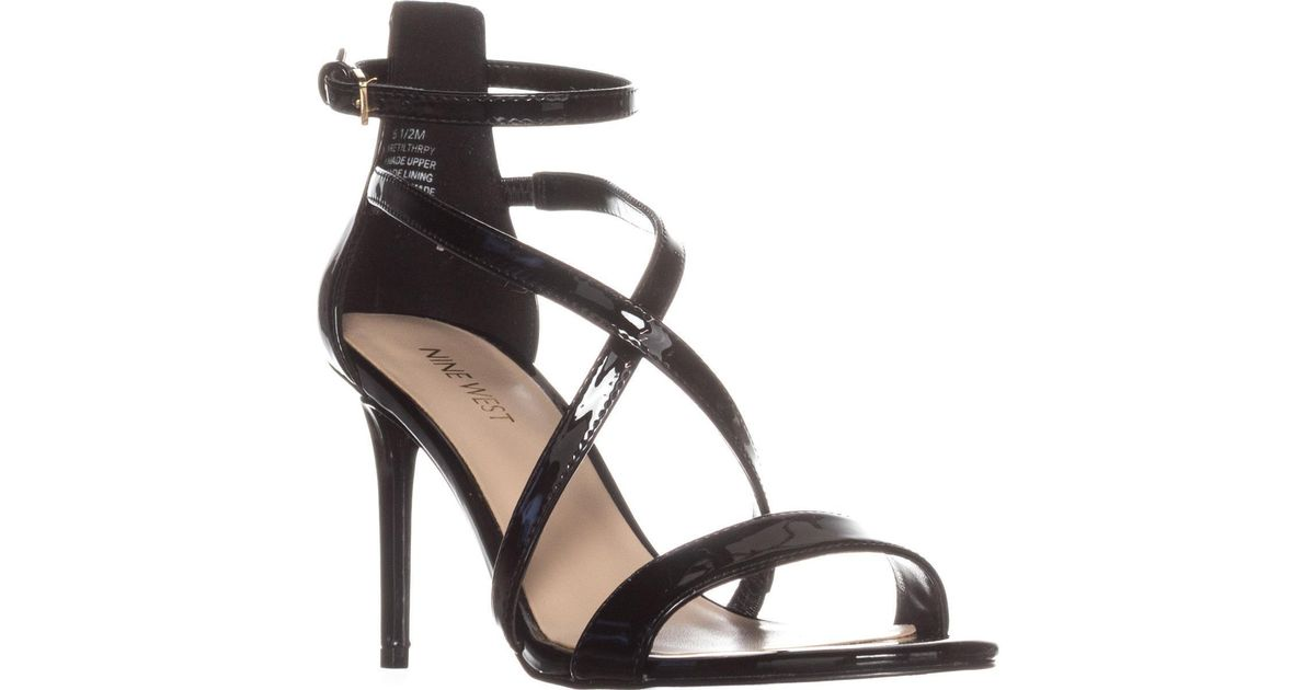 2b5e7cea6e4 Lyst - Nine West Retilthrpy Strappy Sandals in Black