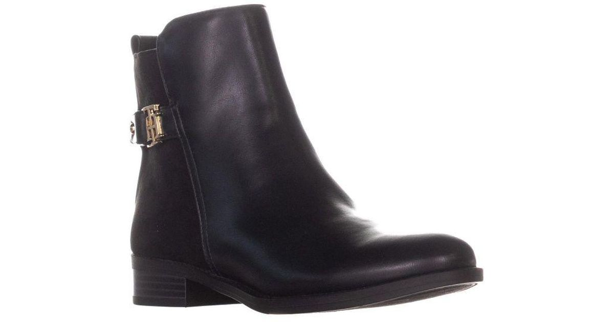 56db2a99 Lyst - Tommy Hilfiger Irsela3 Ankle Boots in Black