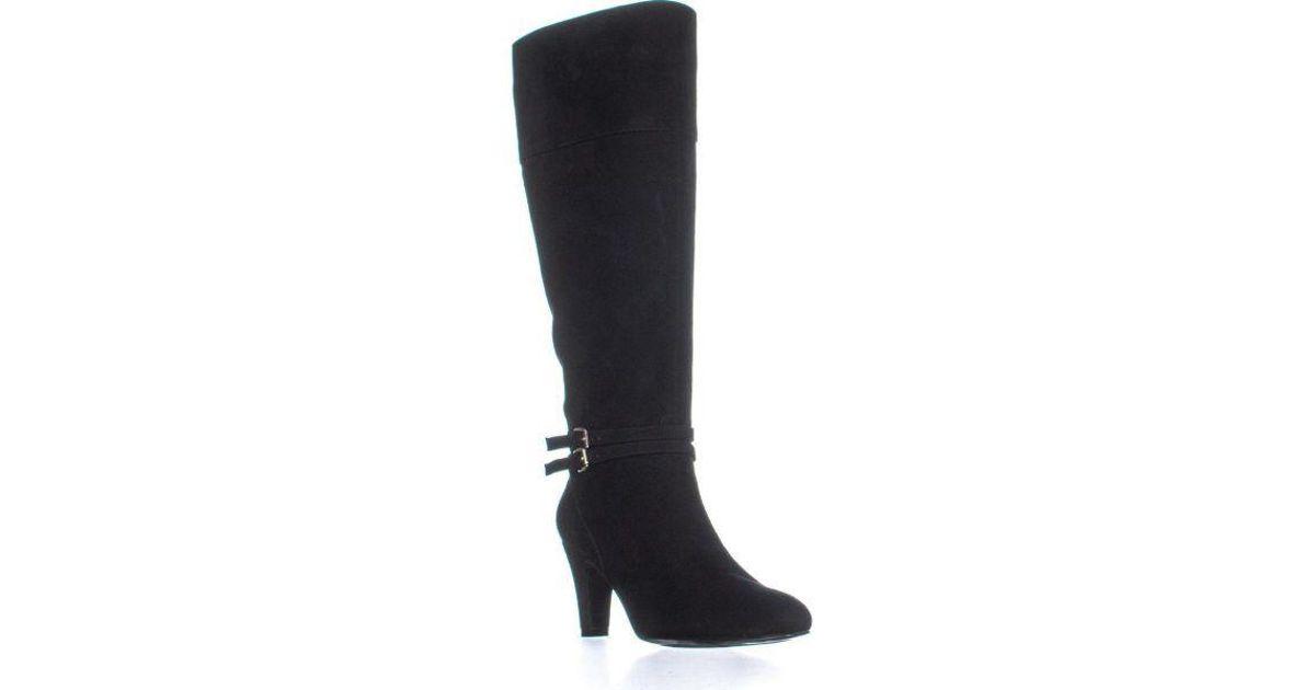6335cfbb4ec Lyst - Bandolino Wiser Wide Calf Kitten Heel Knee-high Boots in Black