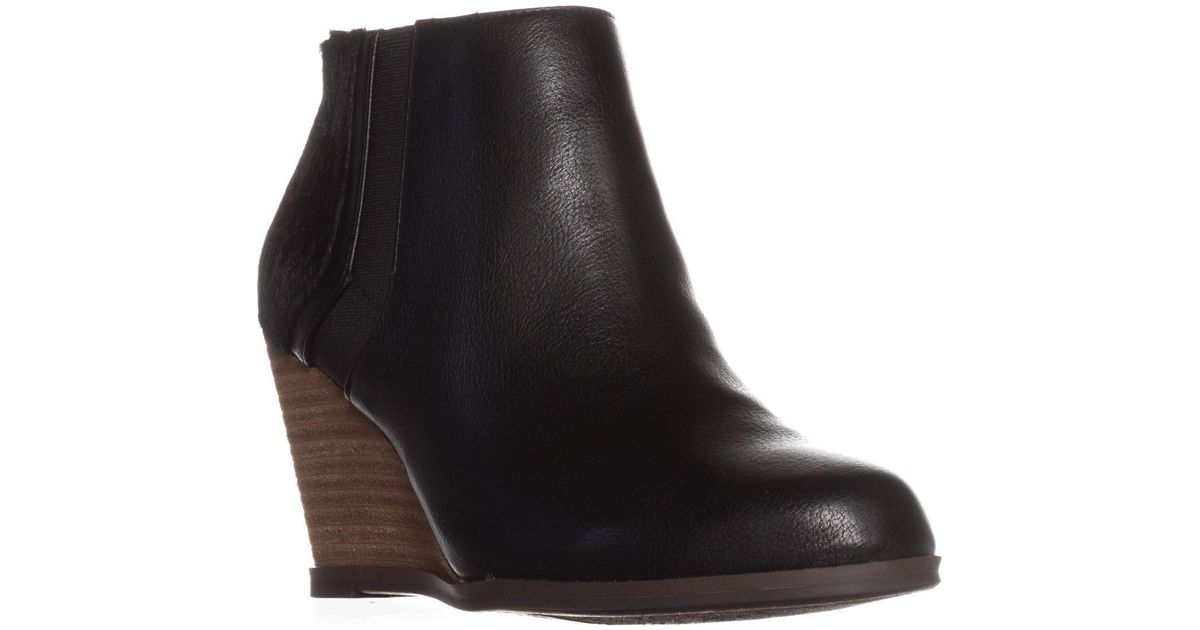 5614d96bc5d Lyst - Dr. Scholls Dr. Scholls Patch Wedge Ankle Boots in Black