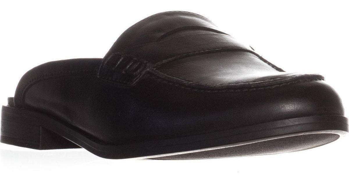32af7874353 Lyst - Naturalizer Villa Backless Penny Loafers in Black