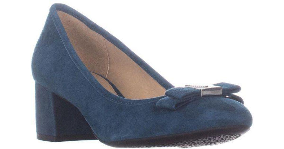cf15d1db7a57 Lyst - Michael Kors Michael Caroline Mid Pump Classic Heels in Blue