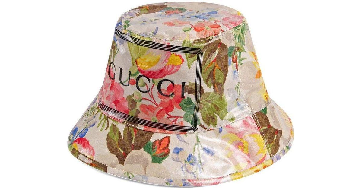 5d08d2606 Gucci - Multicolor Floral Bucket Hat for Men - Lyst