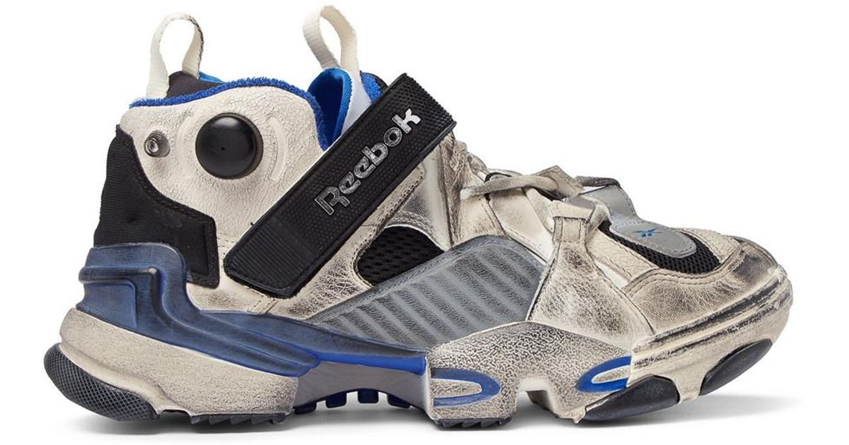 6f34eb587f2941 Lyst - Vetements X Reebok Genetically Modified Pump Sneakers in Blue for Men