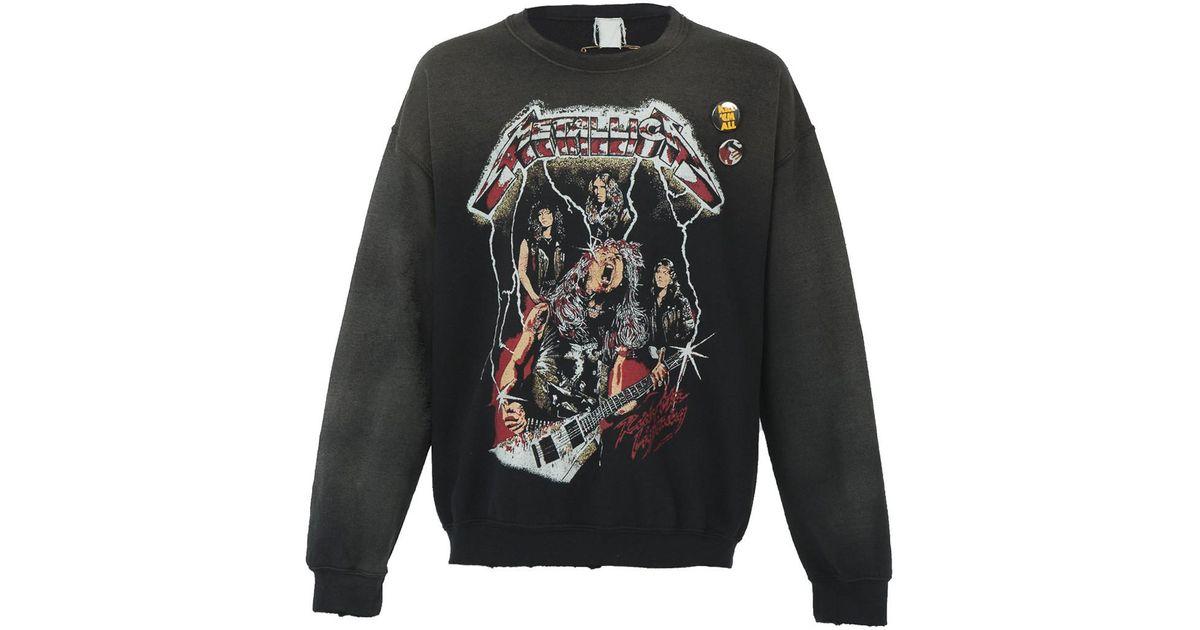 8d83efb6 MadeWorn Metallica Ride The Lightning Crew Neck Sweatshirt in Gray for Men  - Lyst