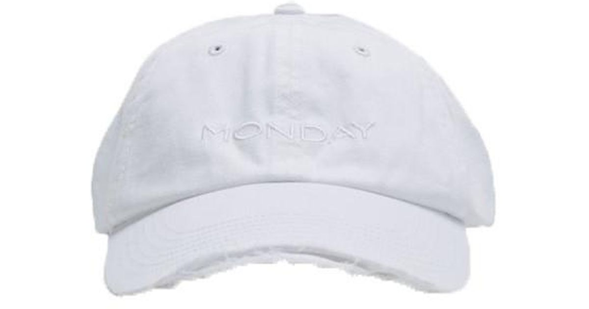 Vetements Weekday Cap in White for Men - Lyst 83a2d1be2477