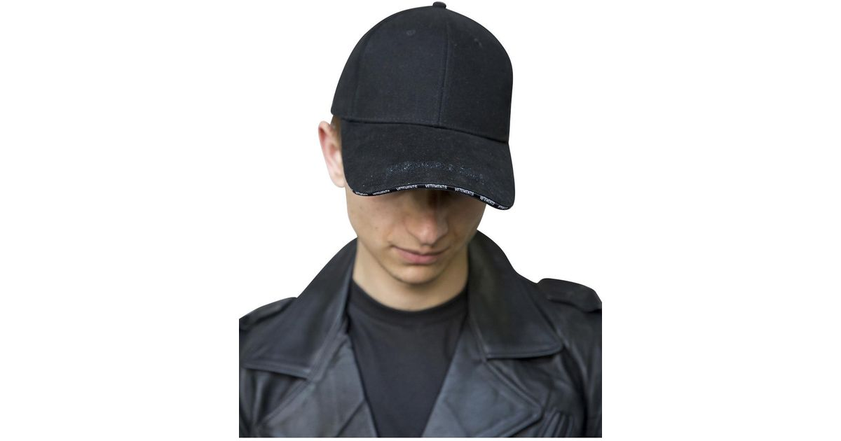 Lyst - Vetements Black Cap in Black for Men cd37ecd7f0a