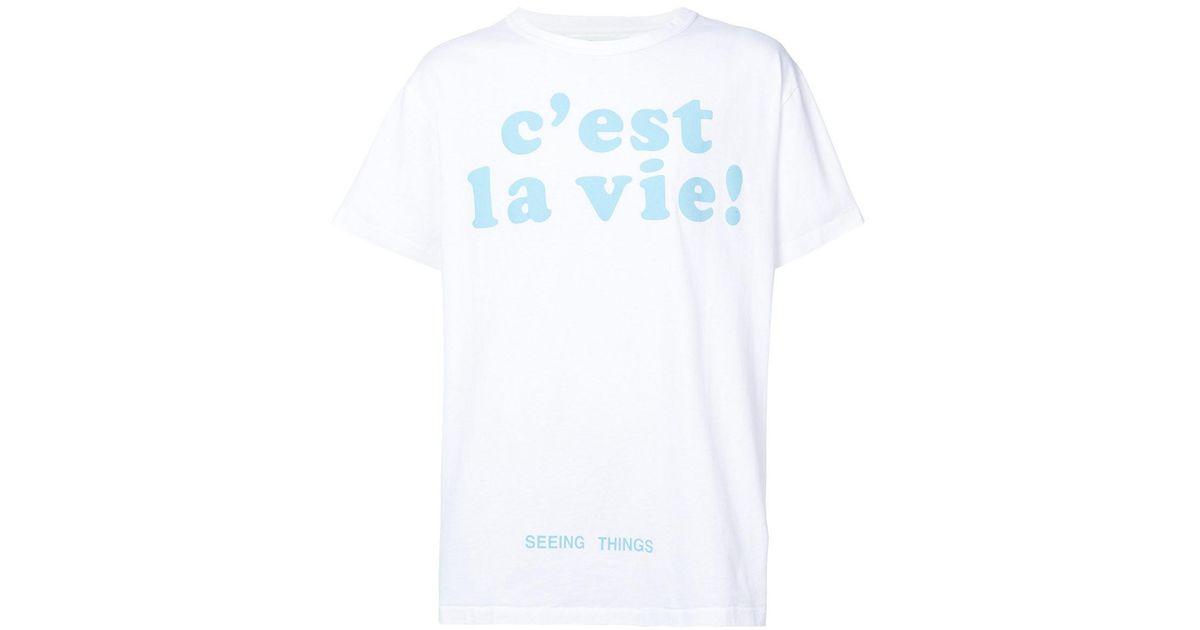 Off-White c/o Virgil Abloh Multicolor 'c'est La Vie' T-shirt for men