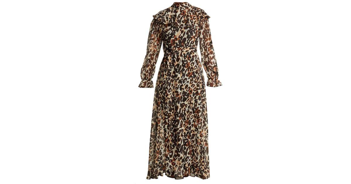 7b89ac13a6 Sonia Rykiel Leopard-print Maxi Dress - Lyst