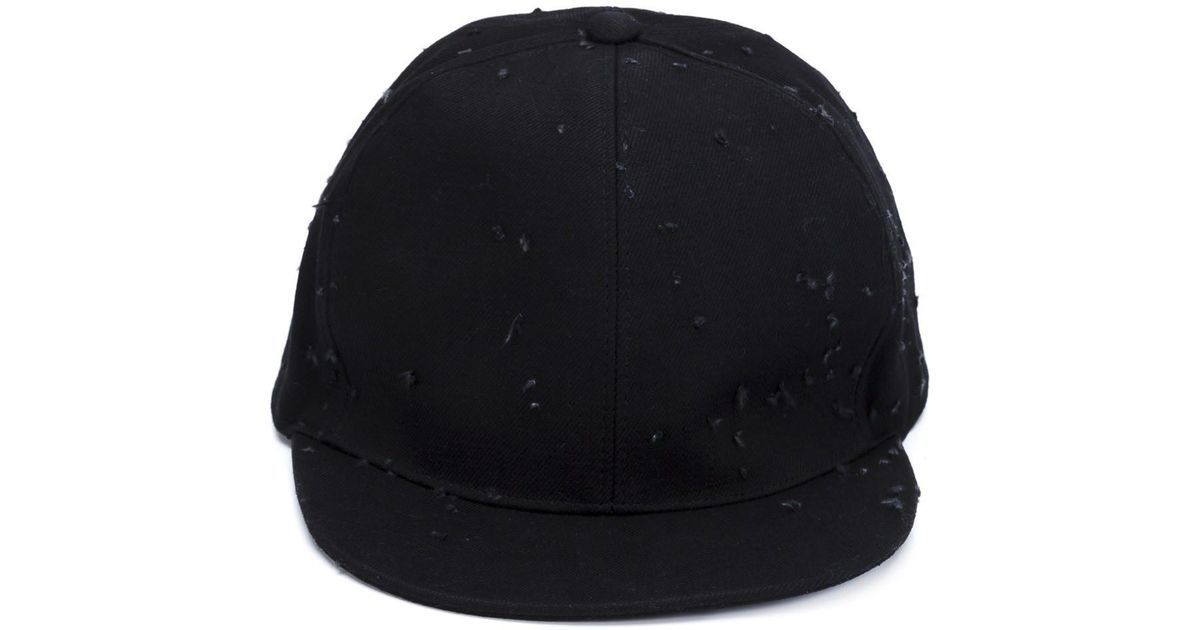 Lyst - Givenchy Distressed Cap in Black for Men b92628119e8a