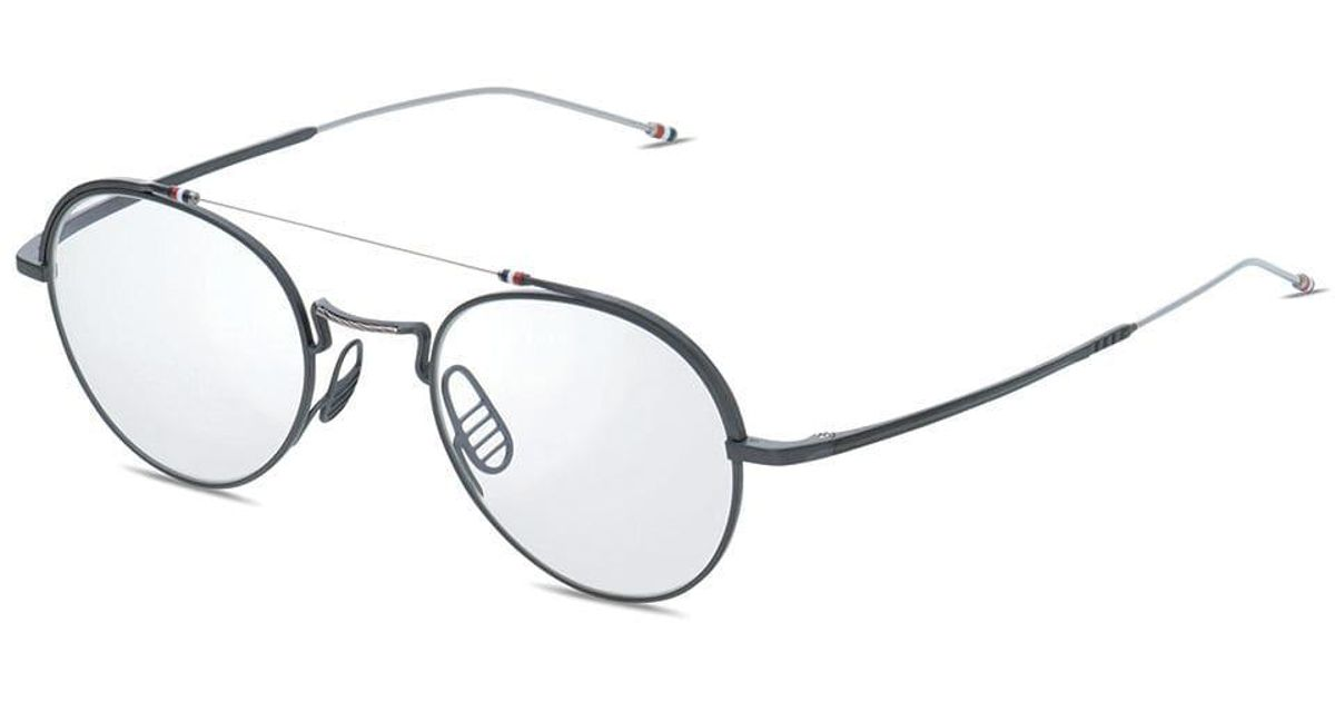 c87433ebe108 Lyst - Thom Browne Black Iron   Silver Glasses in Black for Men