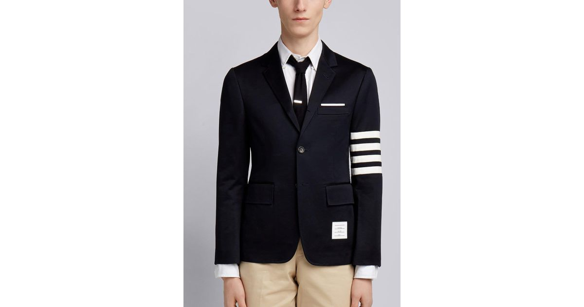 c56f7787e46 Thom Browne 4-bar Unconstructed Sport Coat in Blue for Men - Lyst