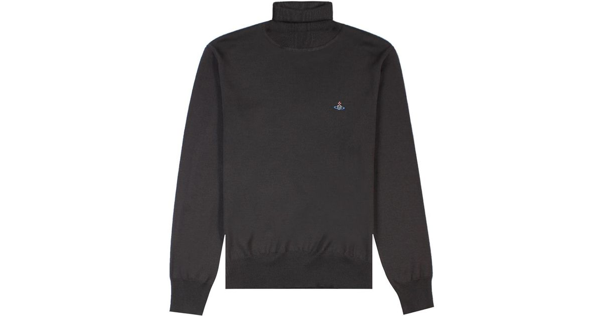3ff2e9ddc7f70 Vivienne Westwood Knitted Turtle Neck Jumper Dark Grey in Gray for Men -  Lyst
