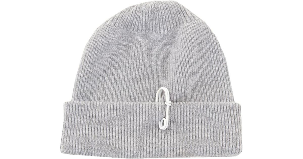 Lyst - Tibi Cashmere Wool Beanie With Pin Detail in Gray 6610d246809