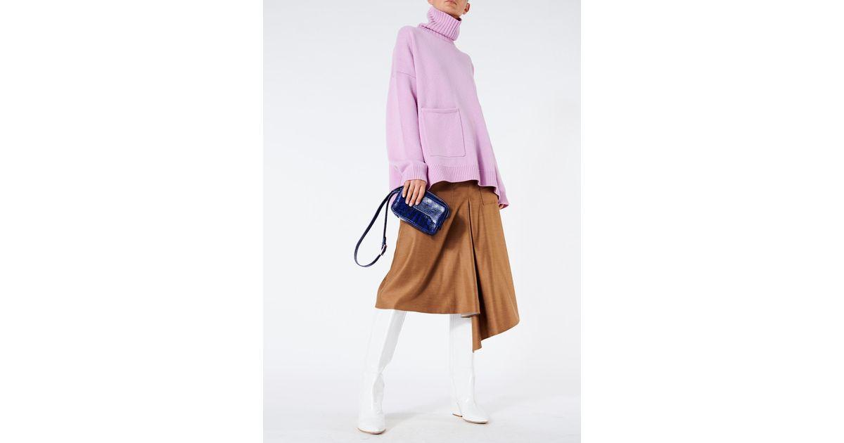 66d9ce0ed0 Tibi Viscose Drape High Waisted Drape Skirt - Lyst