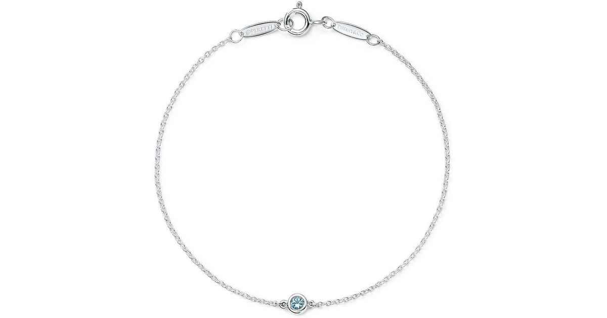 4aef4b444 Elsa Peretti® Color By The Yard Bracelet In Sterling Silver With An  Aquamarine in Metallic - Lyst