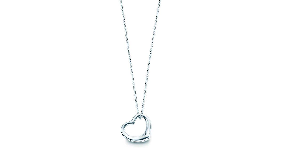 c6ae29a391f Tiffany & Co. Elsa Peretti® Open Heart Pendant In Sterling Silver - Size 11  Mm in Metallic - Lyst