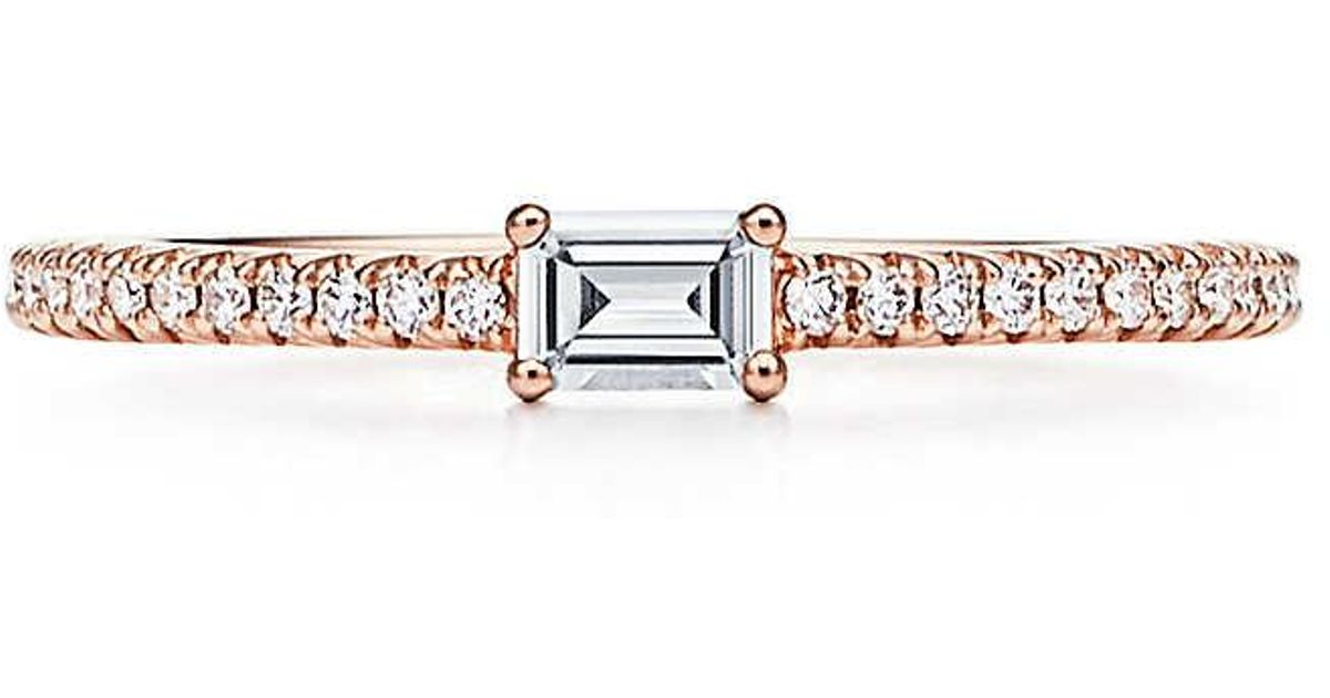 f1bd6e1ee Tiffany & Co. Tiffany Novo. Horizon Ring In 18ct Rose Gold With Diamonds -  Size 6 in Metallic - Lyst