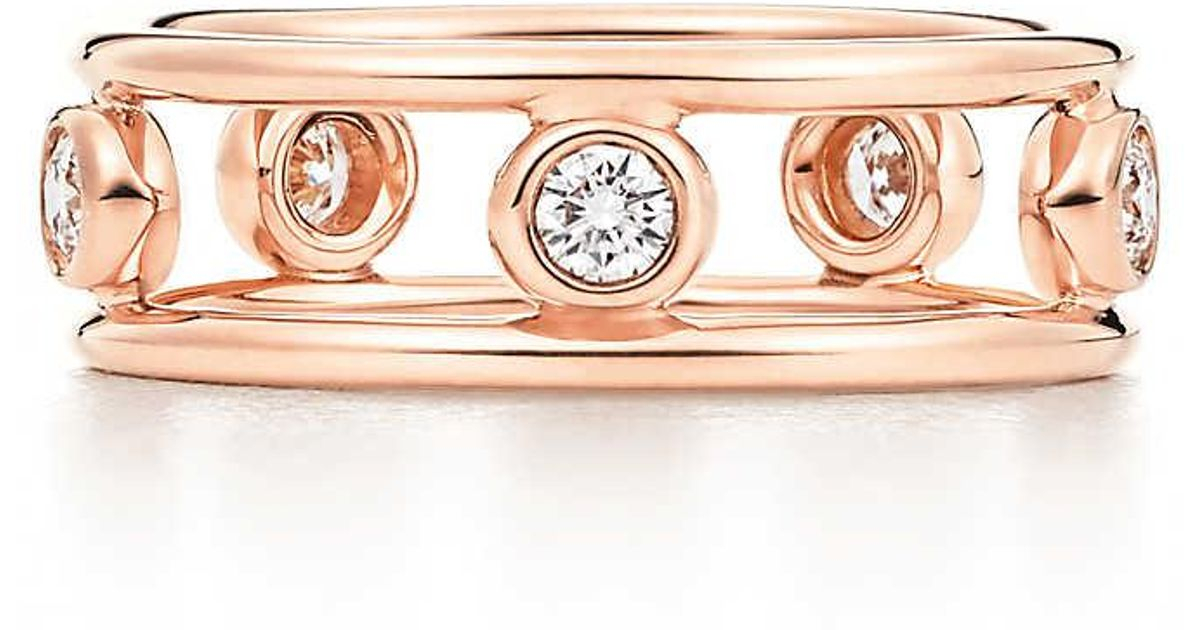 Elsa Peretti Diamonds by the Yard ring in 18k rose gold - Size 4 Tiffany & Co. qAGn2nL