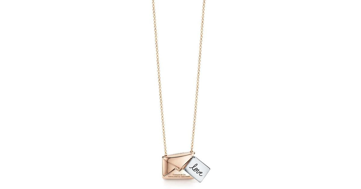 Tiffany co tiffany charms sweet nothings love letter pendant in tiffany co tiffany charms sweet nothings love letter pendant in 18k rose gold and silver in pink lyst aloadofball Choice Image