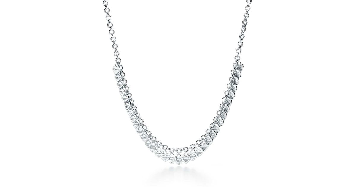 df0251a93 Tiffany & Co. Multi–heart Tag Necklace - Lyst