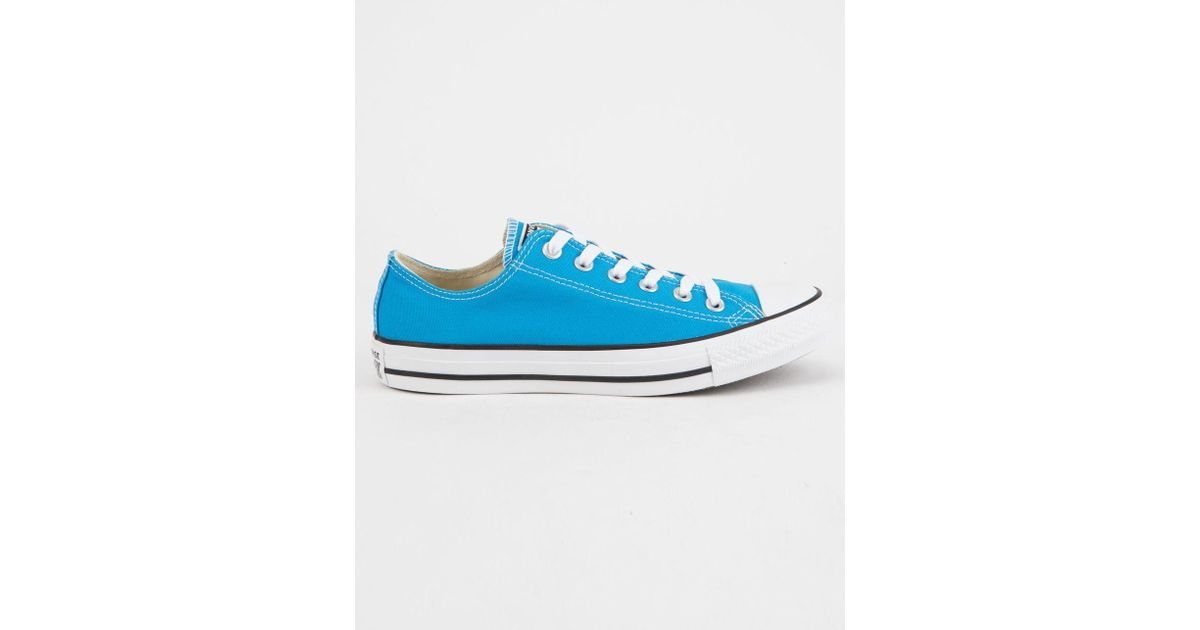 52c20bc85955 Lyst - Converse Chuck Taylor All Star Blue Hero Low Top Womens Shoes in Blue