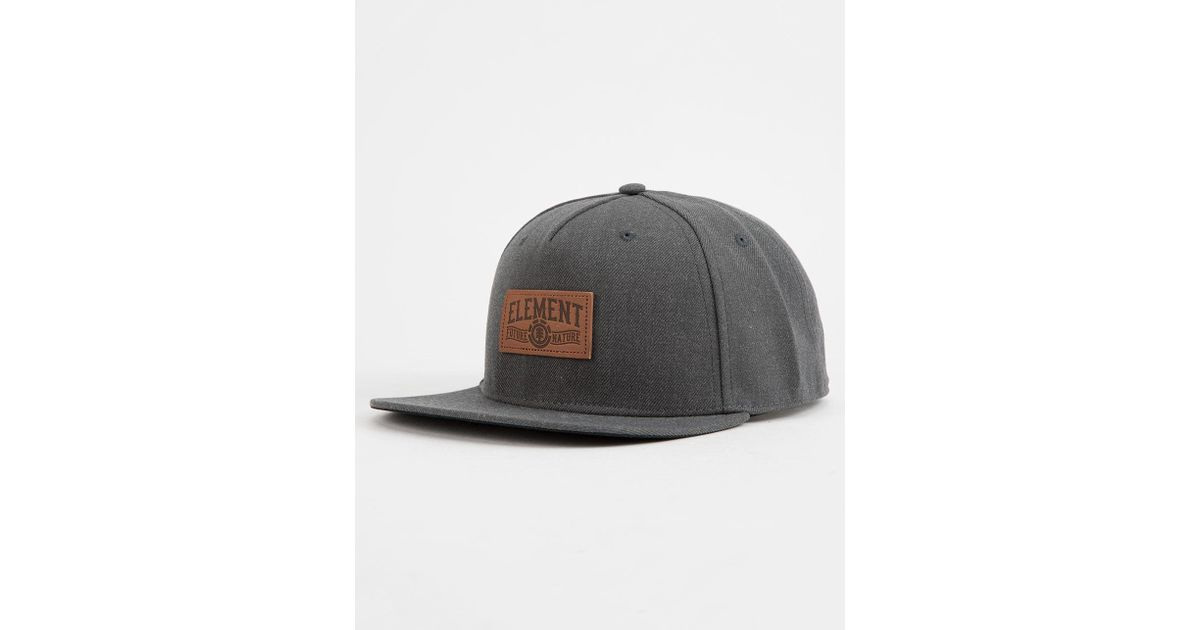 1cfb7b7a6 Element - Gray Leather Banner Mens Snapback Hat for Men - Lyst
