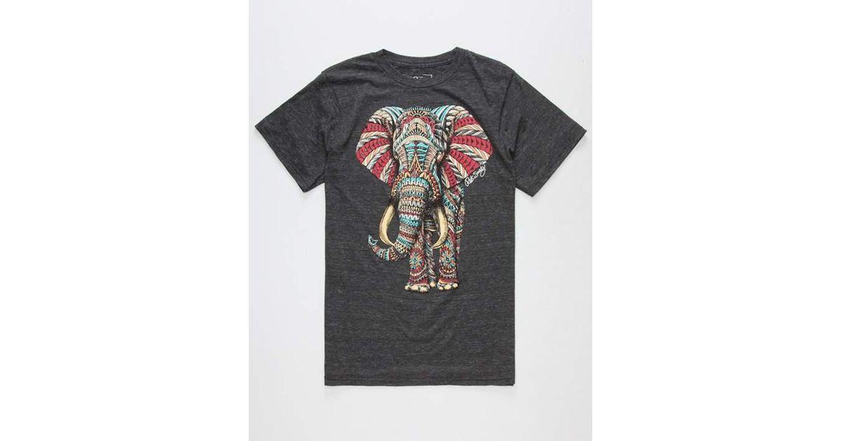 82363127f5962 Lyst - Riot Society Ornate Elephant Mens T-Shirt in Black for Men