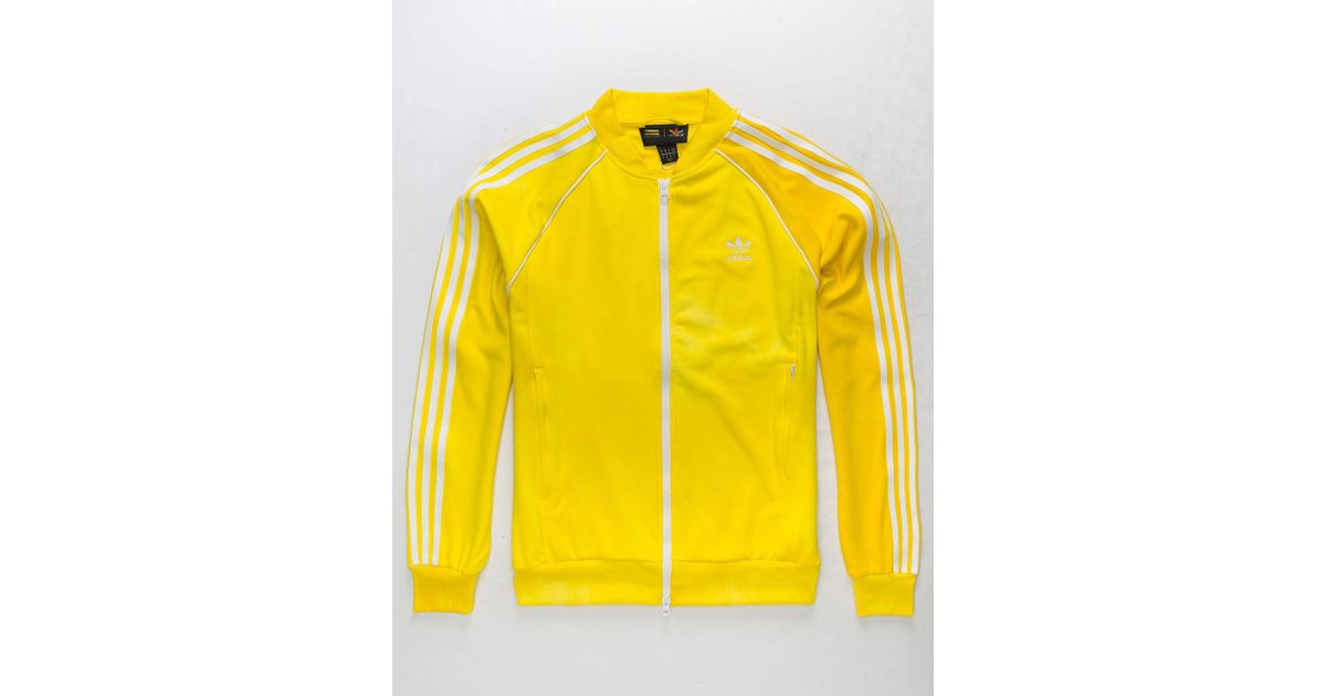 a1aef17be3a83 Lyst - adidas Originals Pharrell Williams Hu Holi Adicolor Yellow Mens  Track Jacket in Yellow for Men