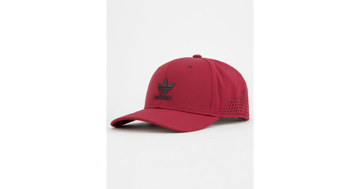 577c6d12229 Lyst - adidas Originals Tech Mesh Burgundy Mens Snapback Hat in Red for Men