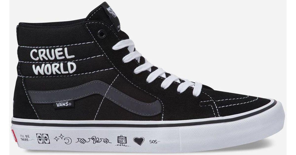 Lyst - Vans X Cult Sk8-hi Pro Mens Shoes in Black for Men b596aa576478