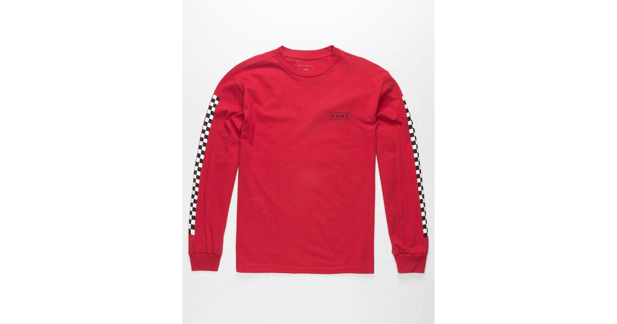 1a7f1ed330d4 Vans Checkmate Mens T-shirt in Red for Men - Lyst