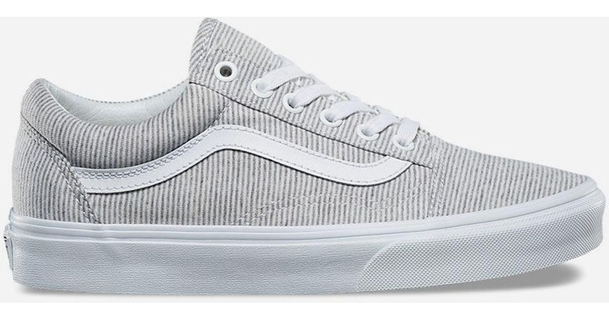 dc184f9acb5526 Lyst - Vans Jersey Old Skool Grey   True White Womens Shoes in Gray