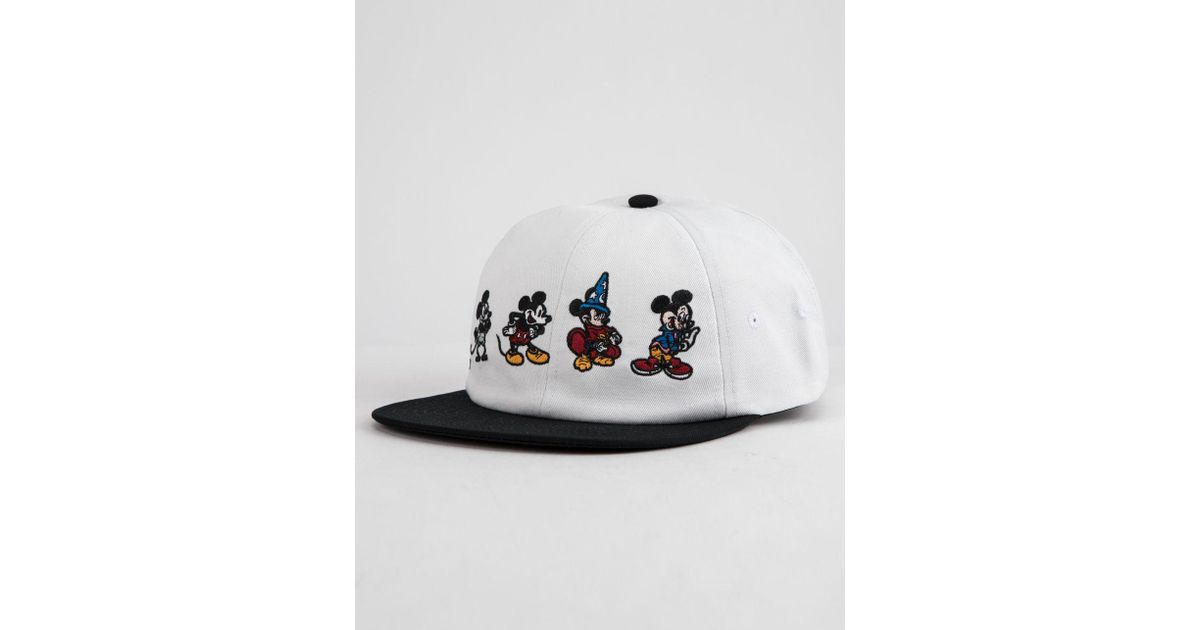 537d4386 Vans Mickey's 90th Jockey Hat (mickey Through The Ages) Caps in White for  Men - Lyst