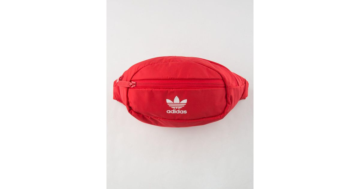 83d0f08481 Lyst - adidas Originals National Red   White Fanny Pack in Red for Men
