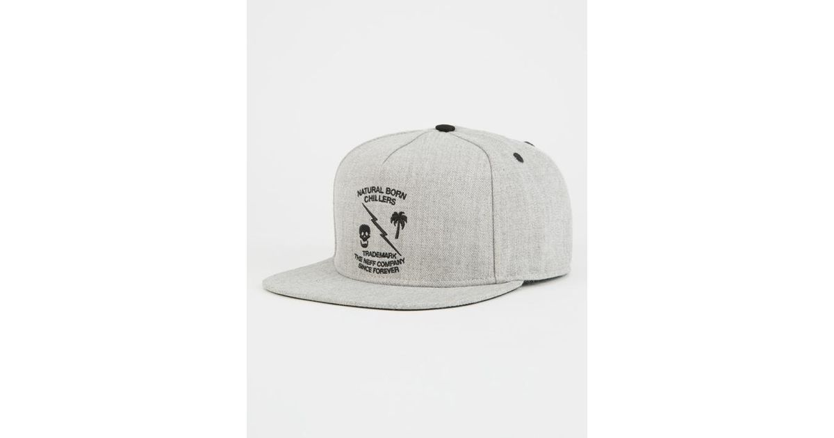 d863c731d0a81 Lyst - Neff Graphite Mens Snapback Hat in Gray for Men