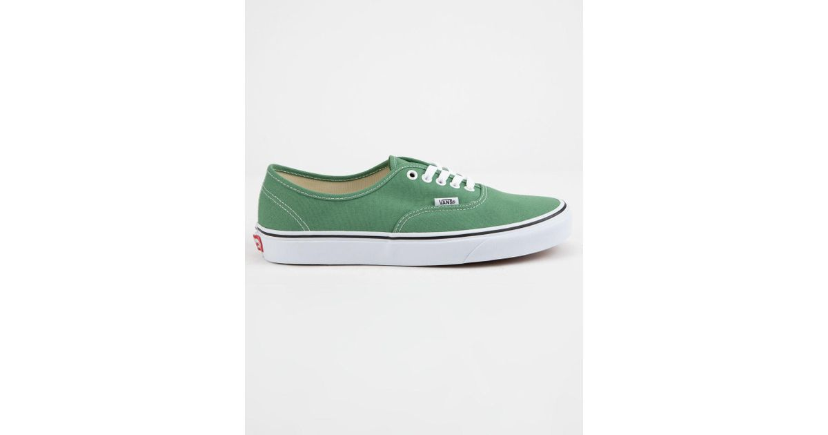 e076c8e6b9db Lyst - Vans Authentic Deep Grass Green   True White Shoes in Green for Men