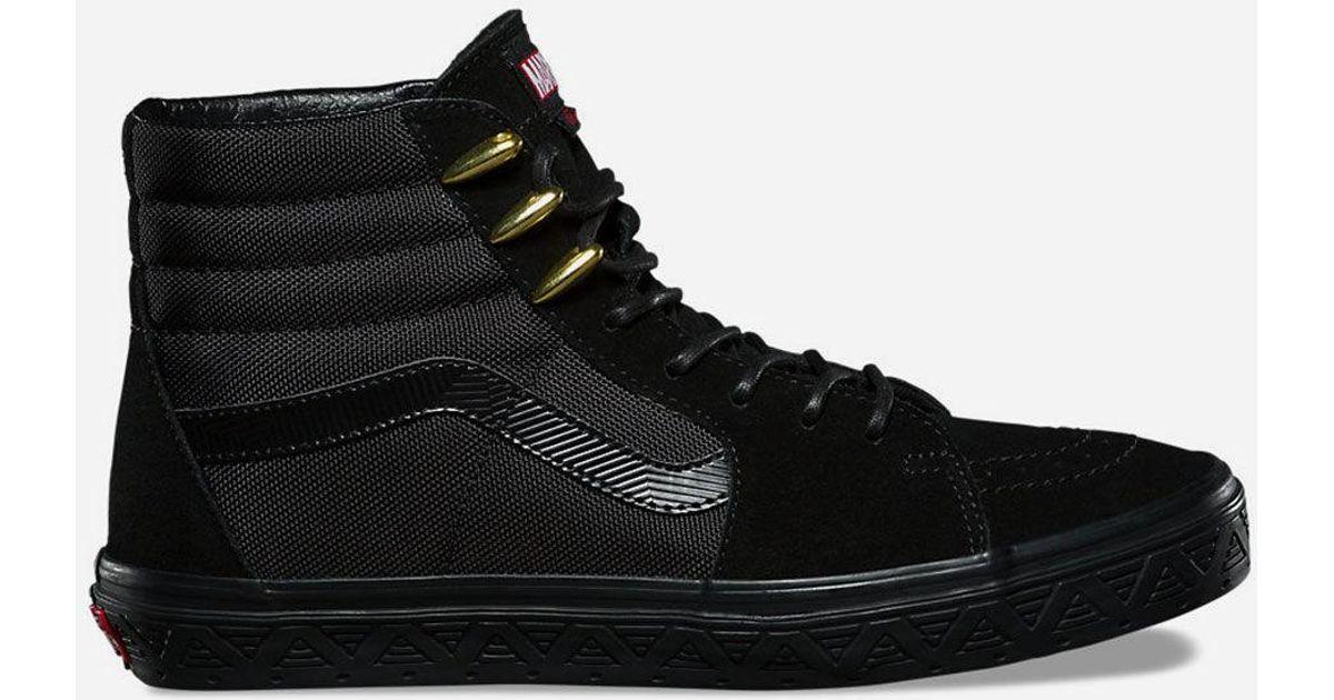 061f875d7b3e0e Lyst - Vans X Marvel Black Panther Sk8-hi Shoes in Black for Men