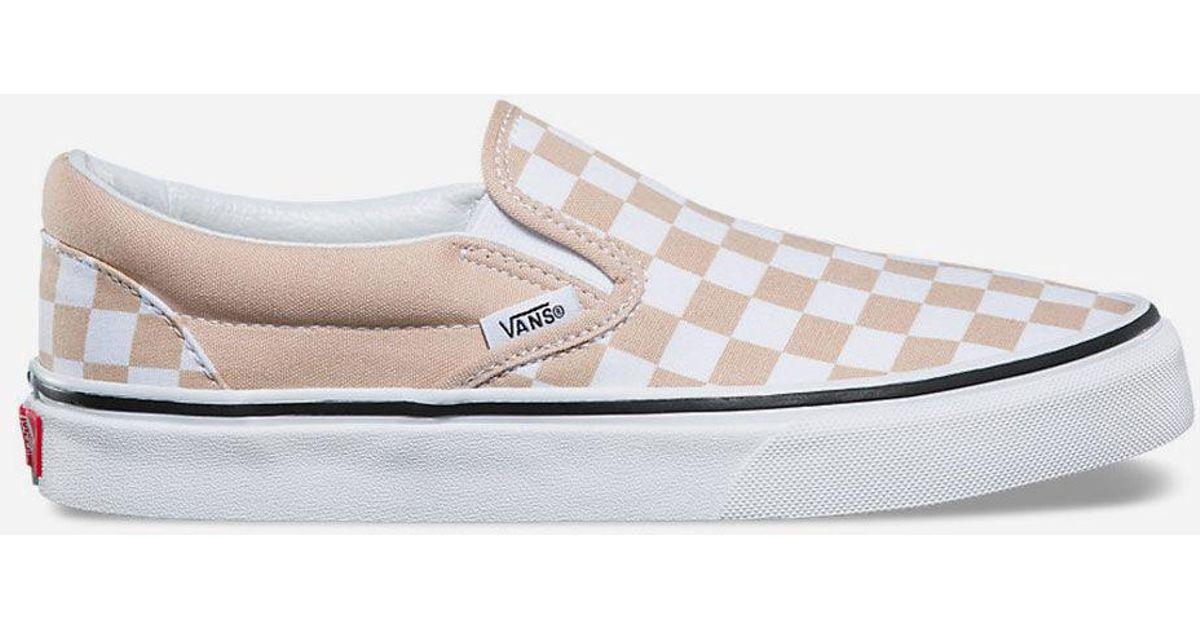 vans slip on checkerboard white