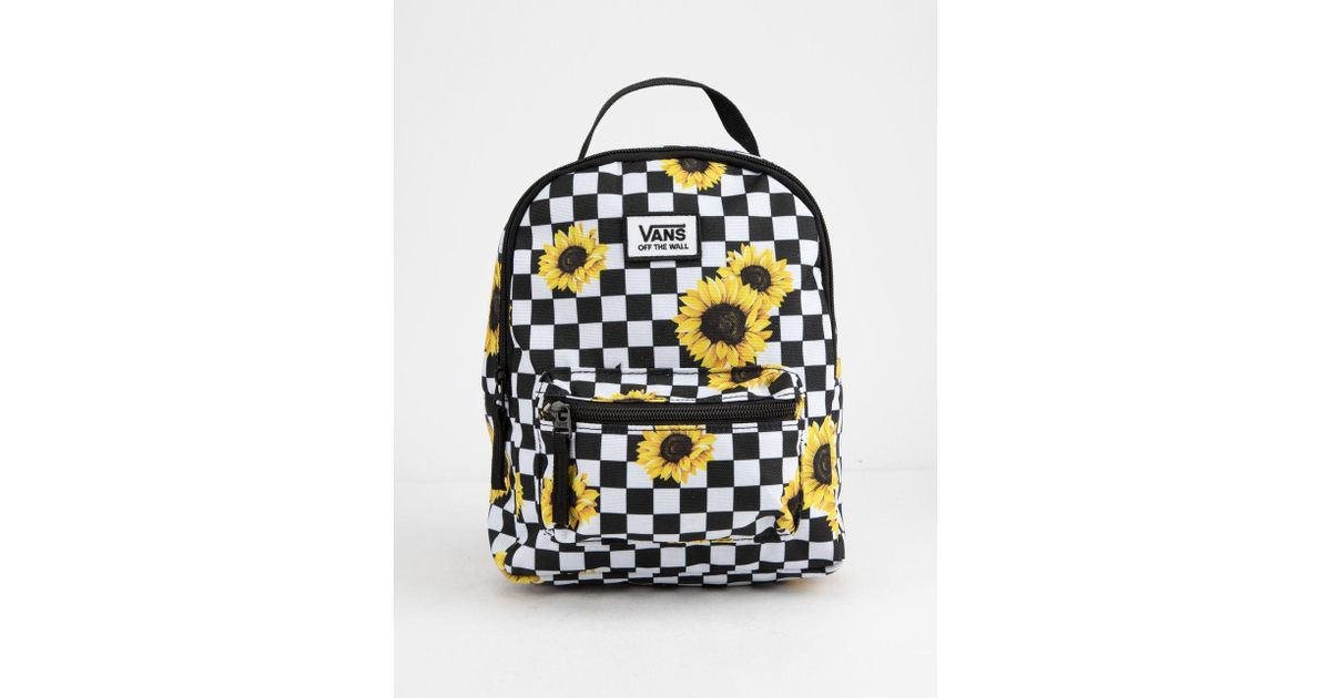 fae90591a Vans Sunflower Check Mini Backpack - Lyst