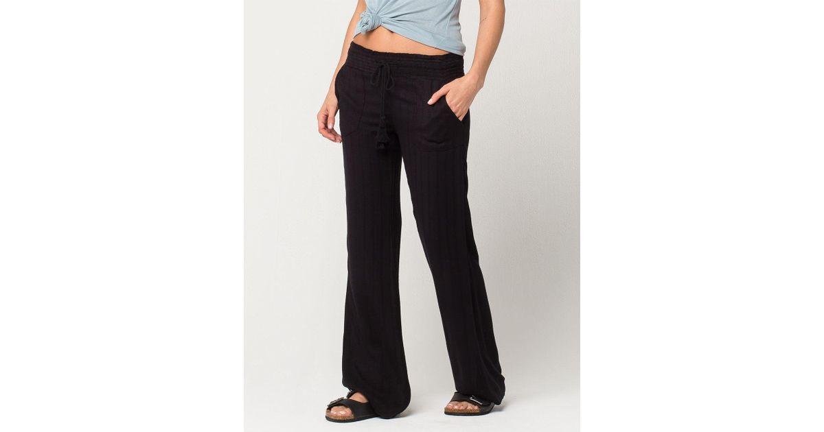 daad82525f Lyst - Roxy Oceanside Womens Beach Pants in Black